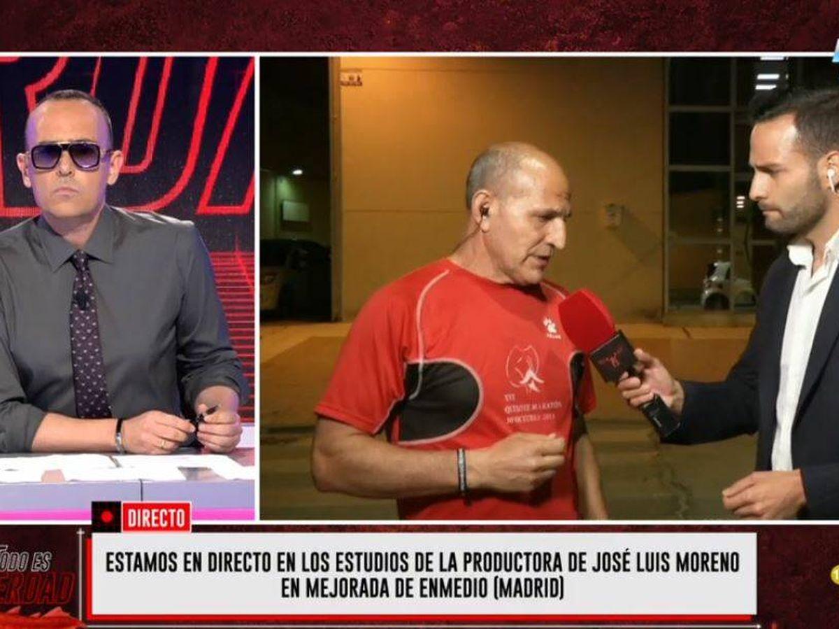 Foto: Risto Mejide y el exchófer de José Luis Moreno. (Mediaset España)