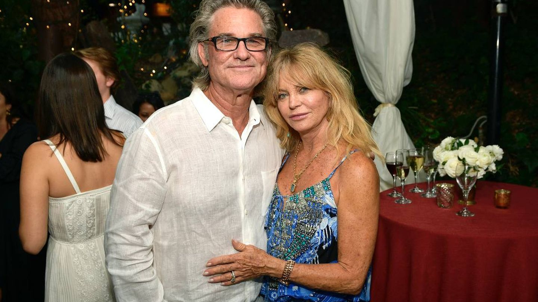 Kurt Russell y Goldie Hawn. (Getty)