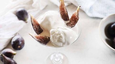 Helado de yogur con brevas, cremoso, fresco y afrutado