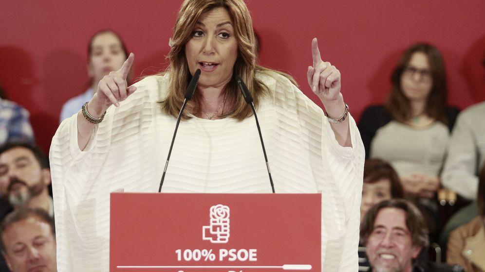 Foto: La candidata a la Secretaría General del PSOE, Susana Díaz, durante el acto público con vistas a las primarias del PSOE celebrado en Palma de Mallorca. (EFE)