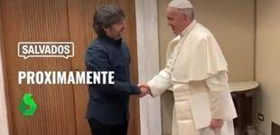 Post de Sorpresa en la Iglesia española ante la entrada de Évole hasta el despacho del Papa
