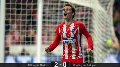 Las mejores imágenes de la victoria del Atlético de Madrid ante el Sporting en Europa League