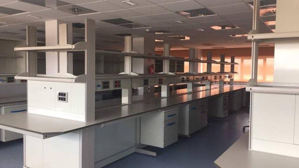 Foto: La planta vacía del hospital de Fuenlabrada.