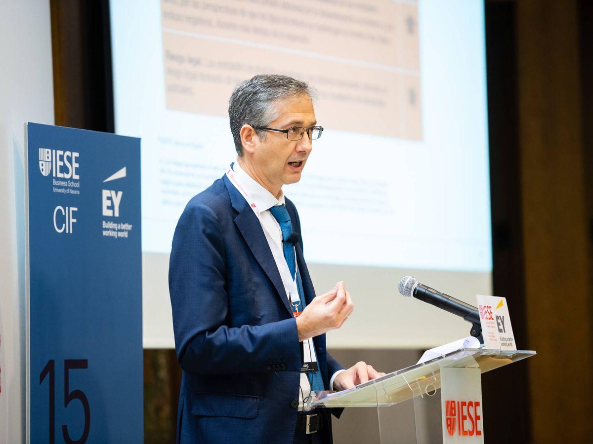 Foto: Pablo Hernández de Cos, gobernador del Banco de España, en una foto de archivo. (IESE)