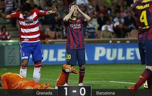 Un triste Barcelona cae en Granada y ahonda en su descomposición
