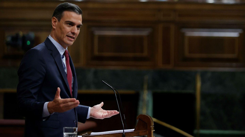 Sánchez, en el último pleno del Congreso. (EFE)