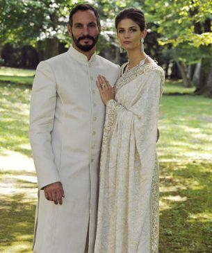 Rahim Aga Khan y Kendra Spears, en una imagen de su enlace matrimonial