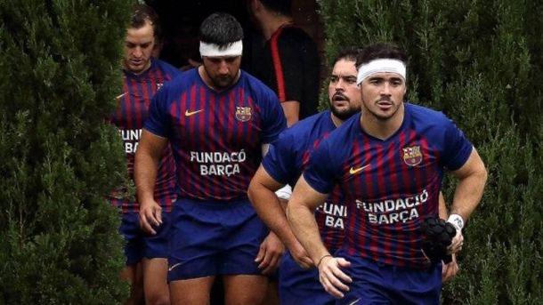 Foto:  El FC Barcelona de rugby. (Foto: @FCBRugby / Edu Rois)