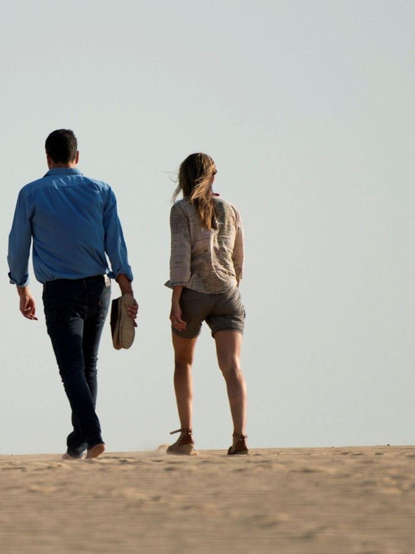 Pedro Sánchez, en Doñana con su mujer, Begoña Gómez, en 2018. (EFE)