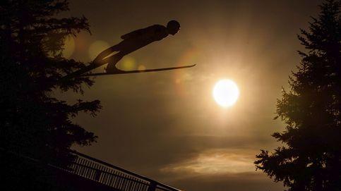 Esquí alpino sobre el sol