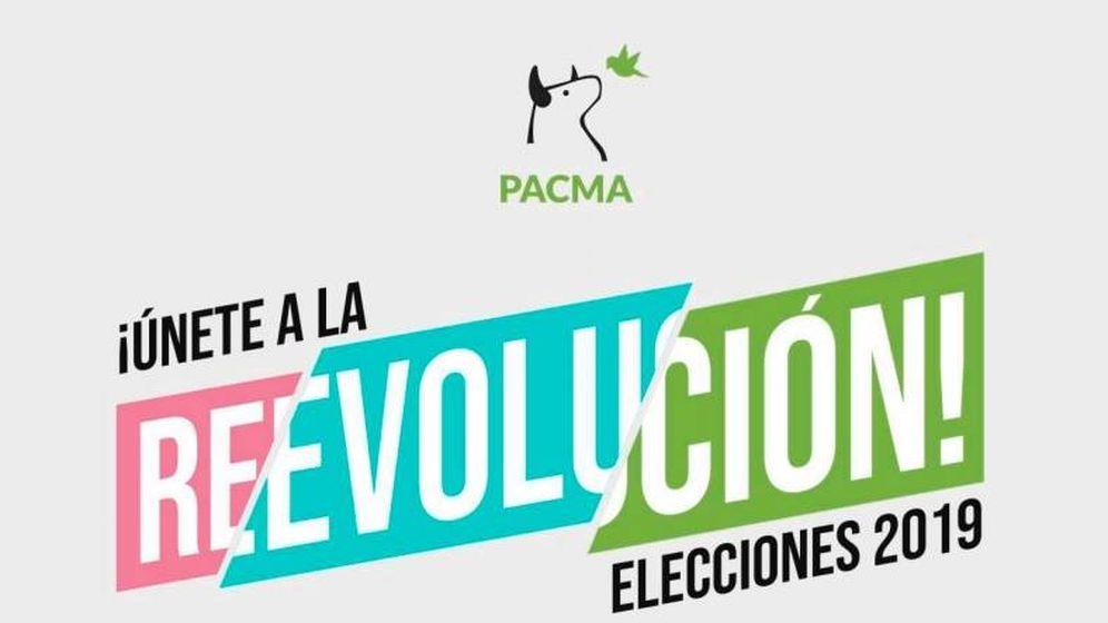 Foto: Lema electoral del PACMA al comienzo de su programa electoral.