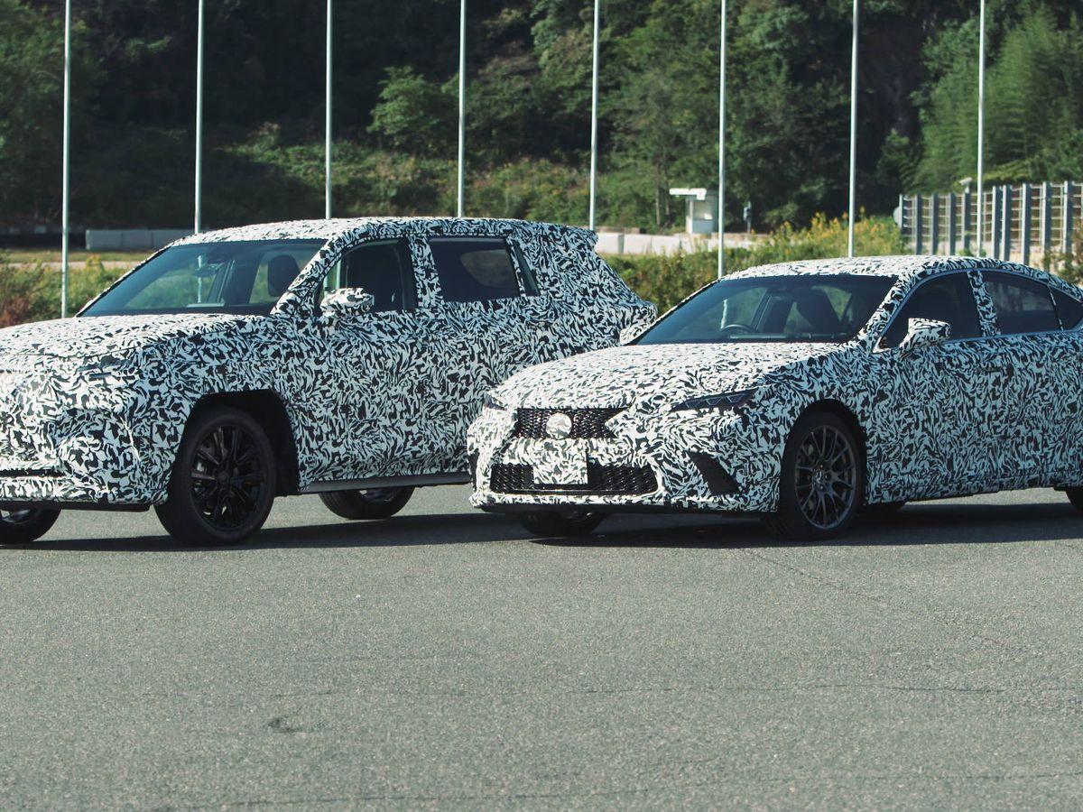 Foto: Unidades de pruebas de Lexus equipadas con el sistema de tracción Direct4 pensado para los nuevos coches eléctricos.