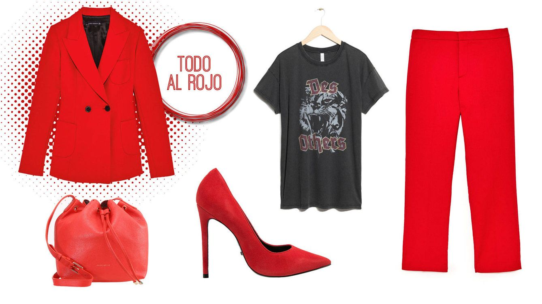Combinar traje chaqueta rojo
