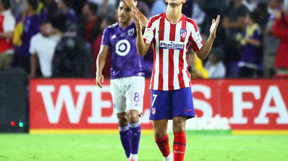 Foto: Joao Félix con la camiseta del Atlético de Madrid. (EFE)