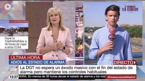 Diego Arce, el hijo de Roberto Arce, debuta como reportero con María Rey