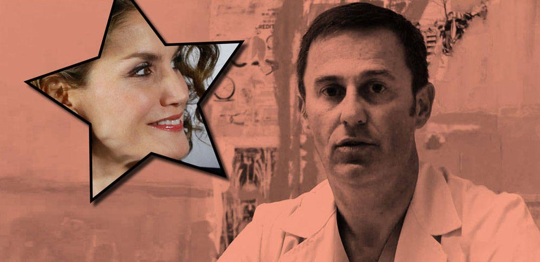 Foto: El dermatólogo Ricardo Ramos Rodríguez con la Reina Letizia. (Vanitatis)