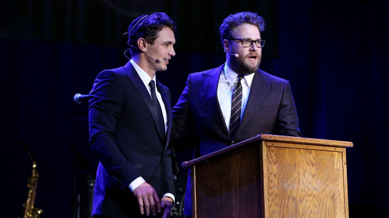 El actor, junto a Seth Rogen en 2015. (Getty)