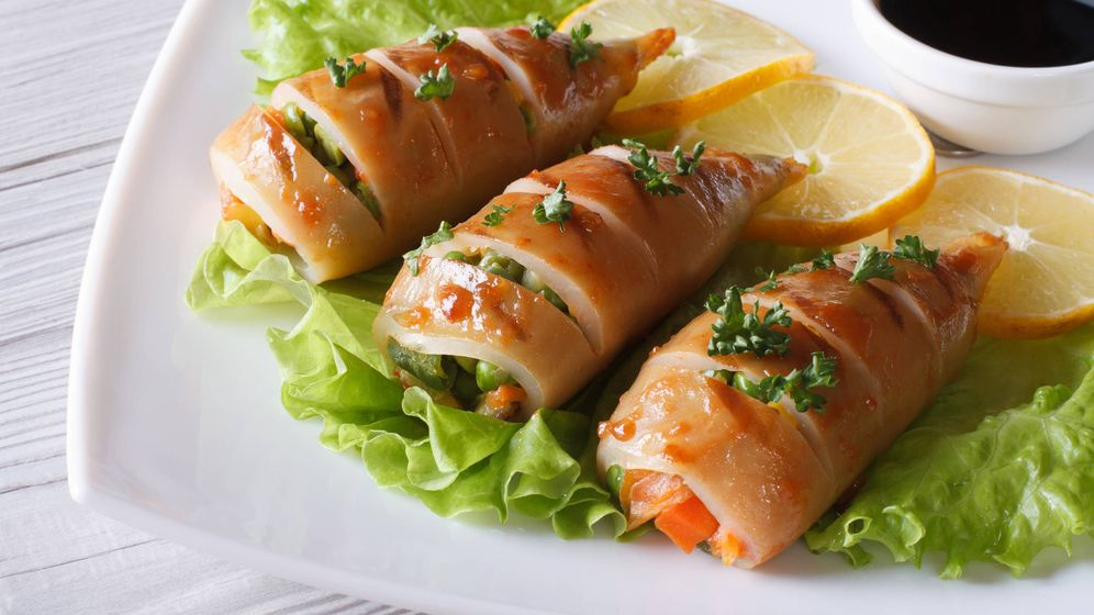 Foto: Calamares rellenos de verduras. (iStock)