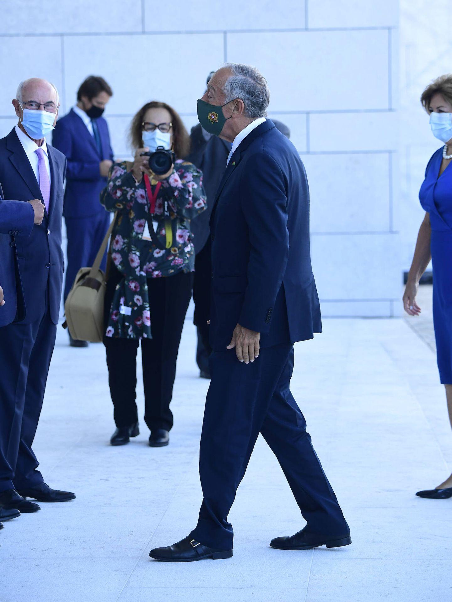 El presidente Rebelo de Sousa, a su llegada. (Limited Pictures)