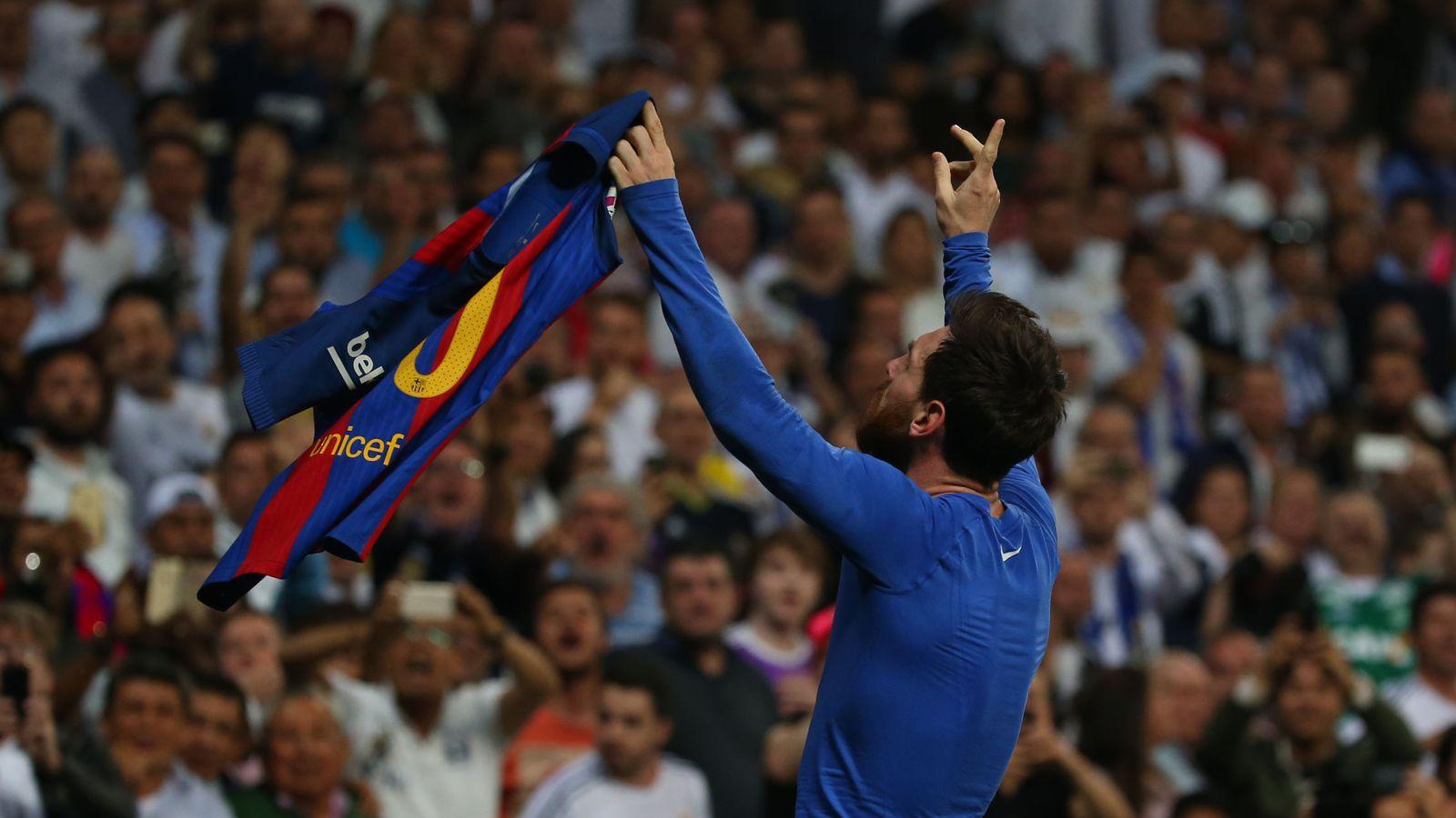 Foto: Messi celebra el gol que dio el triunfo al Barcelona la pasada temporada en el Bernabéu. (Reuters)