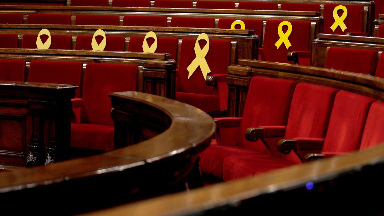 Vista general del hemiciclo del Parlament. (EFE)
