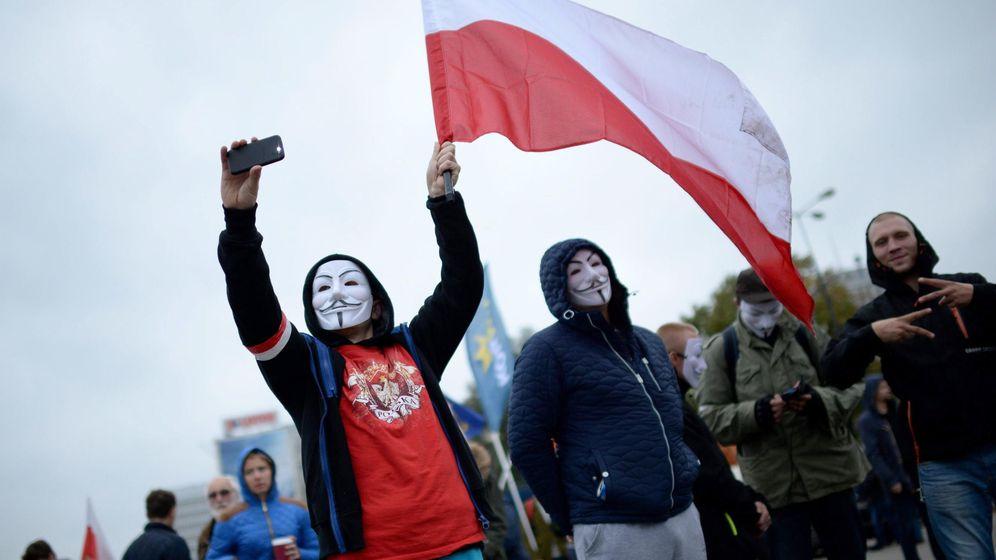 Foto: Protesta de un grupo polaco antiinmigrante. (Reuters)