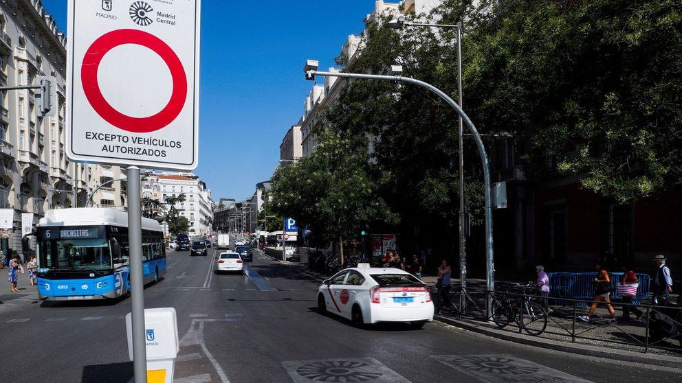 El Ayuntamiento de Almeida volverá a multar en Madrid Central a partir del lunes