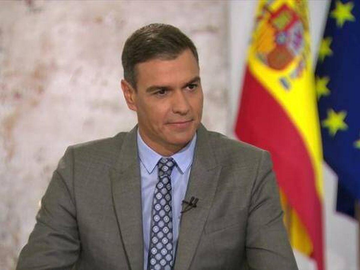 Foto: El presidente del Gobierno, Pedro Sánchez, durante una entrevista en TVE este lunes.