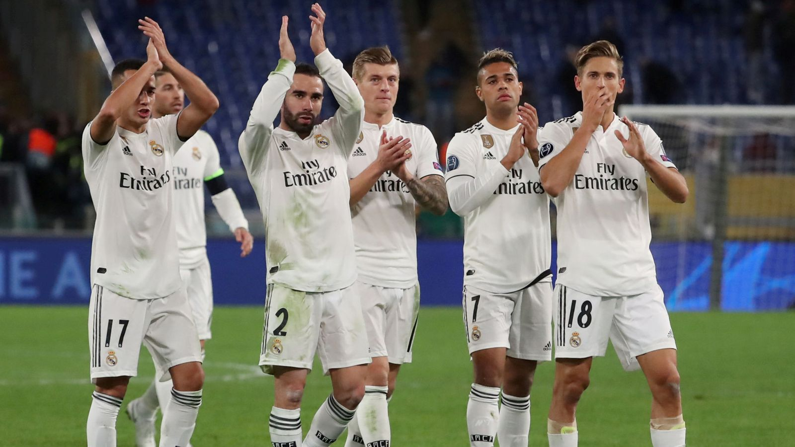 Foto: File photo: champions league - group stage - group g - as roma v real madrid