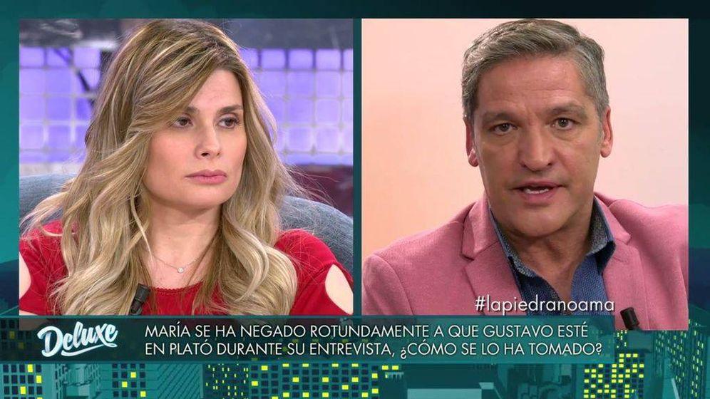 Foto: María Lapiedra y Gustavo González en 'Sábado deluxe'. (Mediaset España)