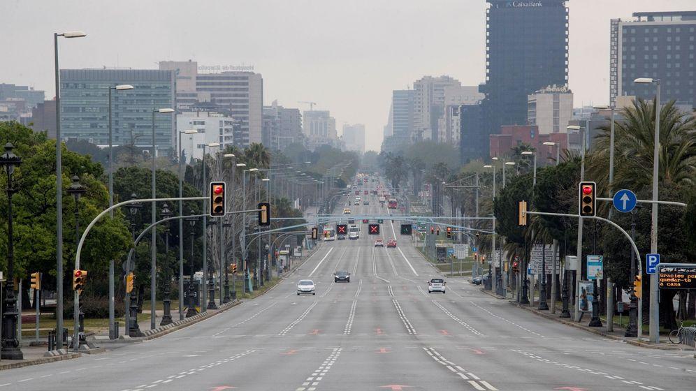 Foto: La Avenida Diagonal de Barcelona el pasado 30 de marzo. (EFE)