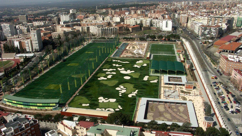 Vista área del campo de golf de Chamberí.