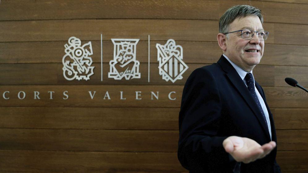 Foto: Ximo Puig, 'president' de la Comunitat Valenciana, este 12 de mayo en Les Corts. (EFE)