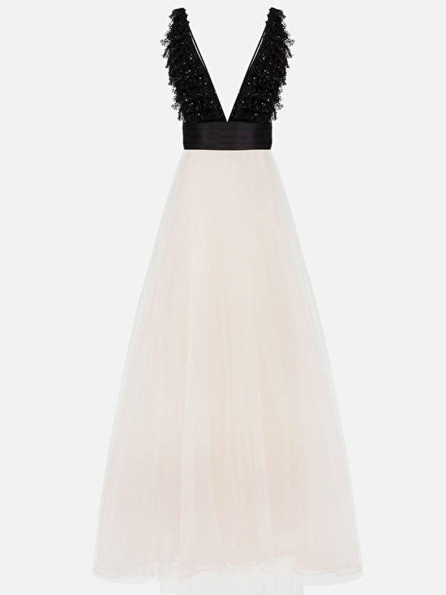 El vestido de Elisabetta Franchi de Cayetana