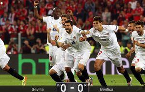 El Sevilla vuelve a tocar el cielo europeo gracias al gafado Benfica