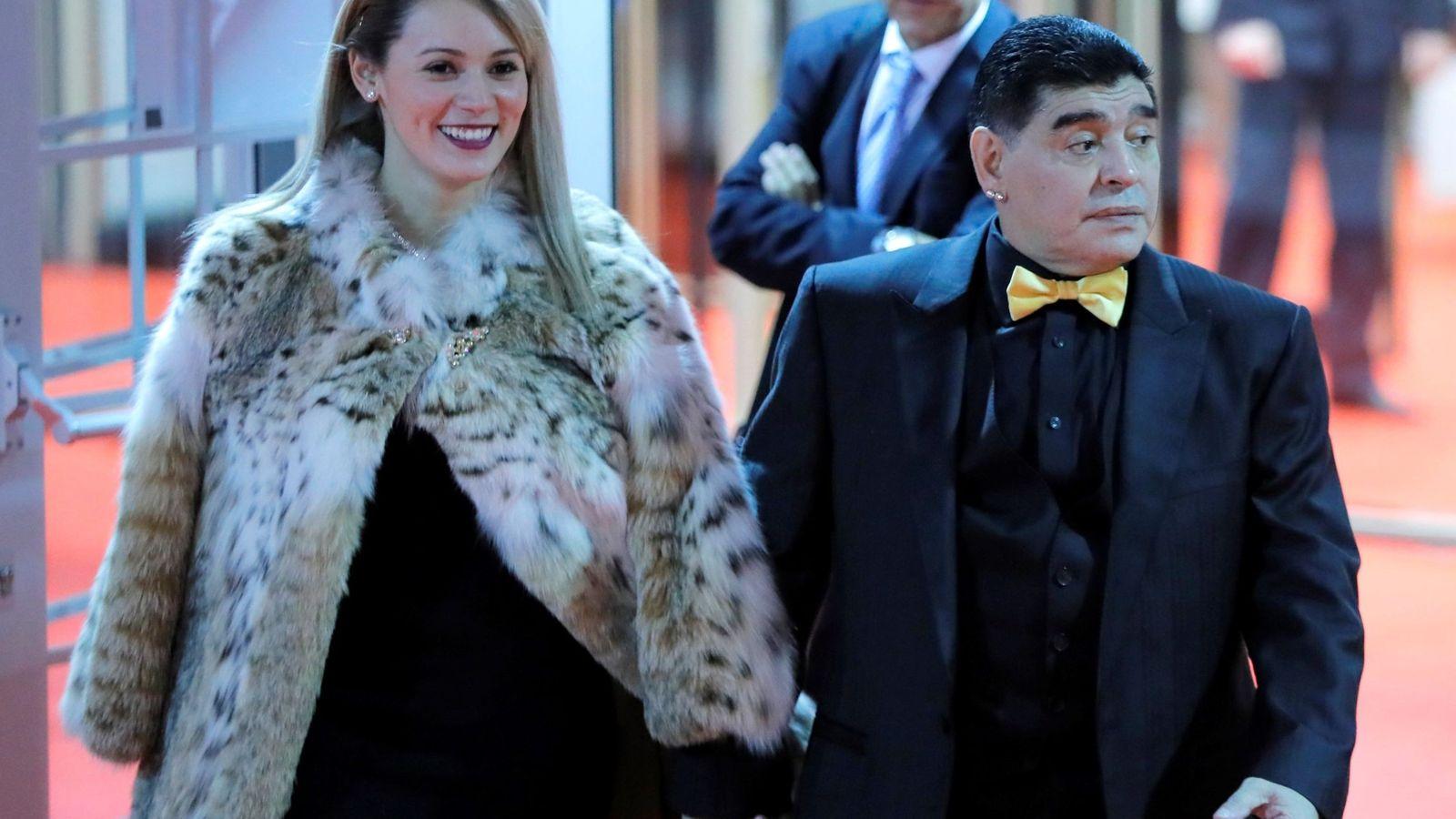 Foto: Maradona y Rocío Oliva en una imagen de archivo. (EFE)