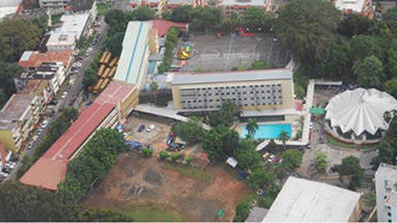 Antiguo Colegio Javier en el centro de Panamá, entregado por FCC al expresidente del país como presunto soborno.