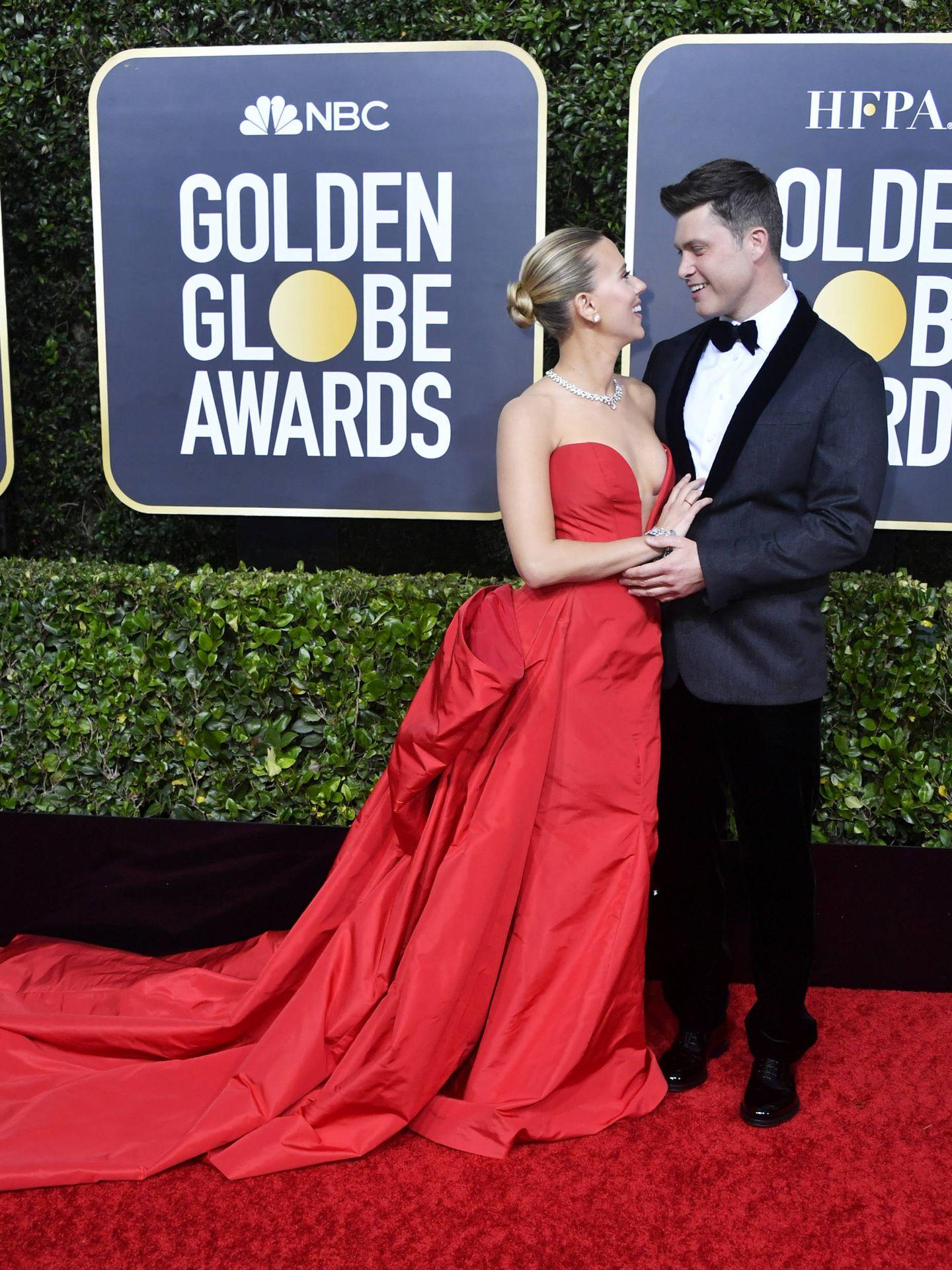 La feliz pareja, en los últimos Globos de Oro. (Getty)