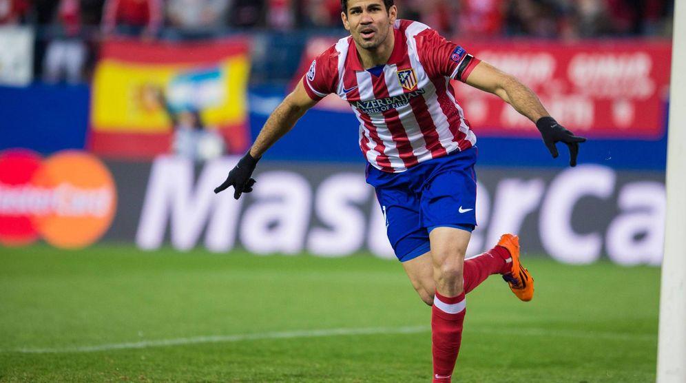 Foto: En la imagen, Diego Costa celebra un gol marcado con el Atlético de Madrid. (FOTO: Cordon Press)