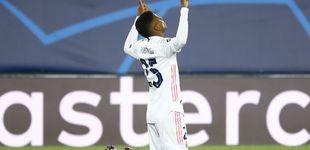 Post de Rodrygo saca de la agonía al Real Madrid con un gol que lo deja vivo en la Champions (3-2)