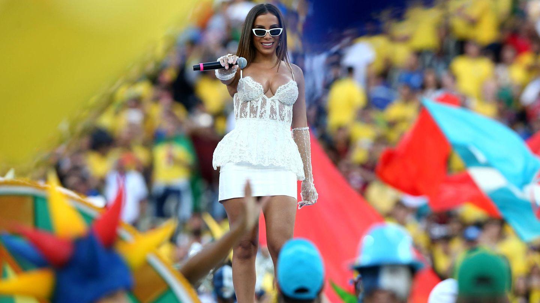 Anitta, durante la final de la Copa América este verano. (Getty)
