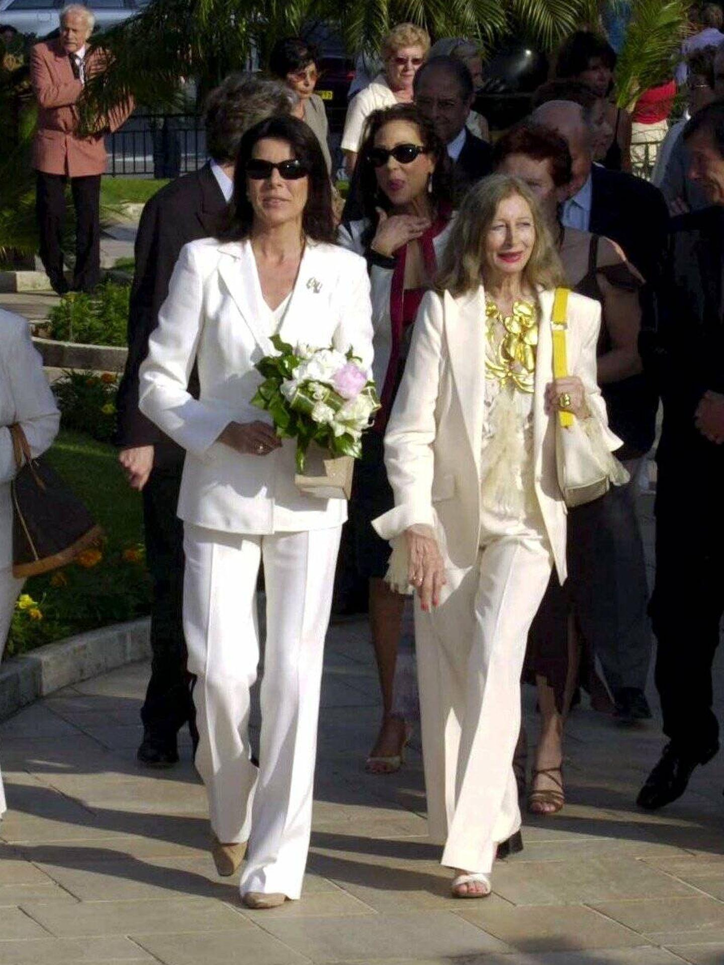 La princesa Carolina de Mónaco, en un festival de escultura de Montecarlo en 2004. (Cordon Press)