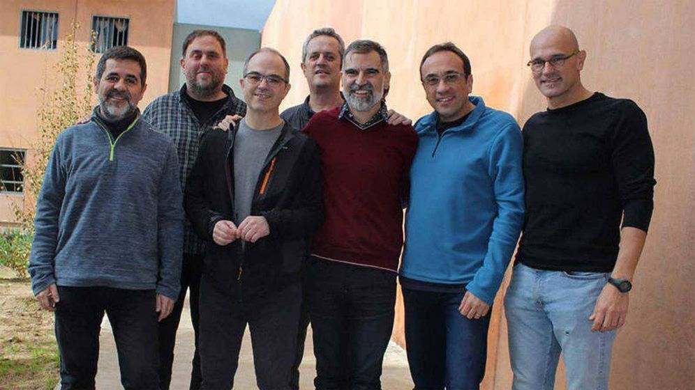 Foto: Imagen de archivo de los presos del 'procés' en la cárcel de Lledoners
