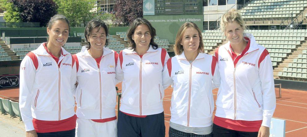 Foto: El equipo español liderado por Conchita Martínez (Efe).