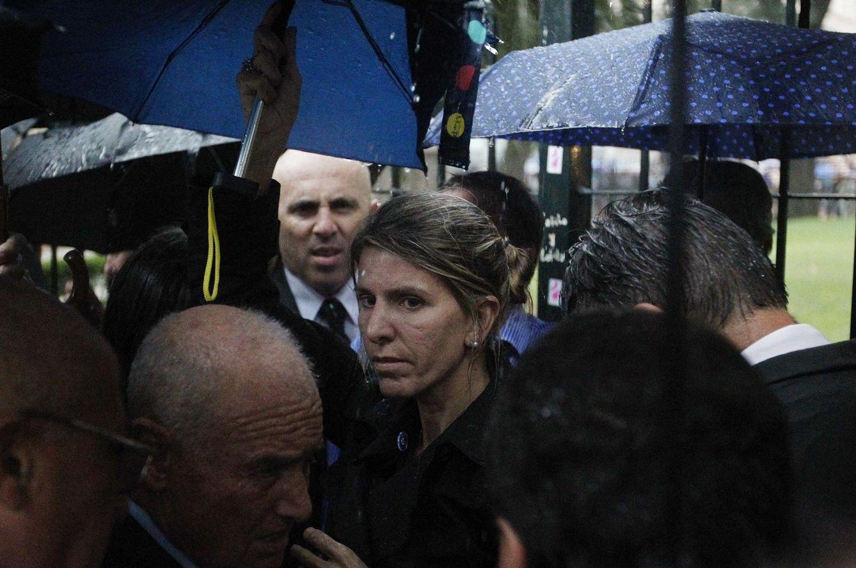 La jueza Sandra Arroyo, durante la manifestación celebrada en Argentina (Reuters)