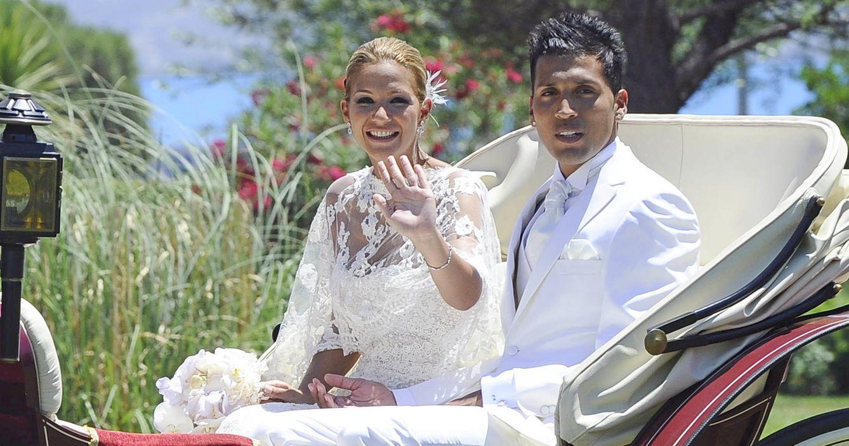 Foto: Tamara Gorro y Ezequiel Garay el día de su boda (Gtres)