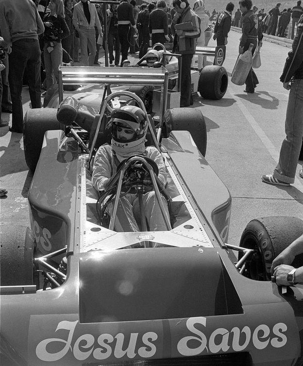 Foto: Alex Ribeiro en su 'Jesus Saves' de Fórmula 2 de 1978. (Imago)