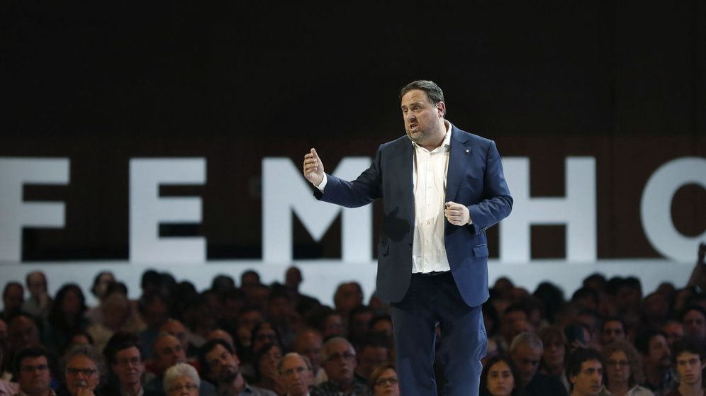 Foto: Acto de ERC bajo el tÍtulo 'ganemos la república'. Hagámoslo. (EFE)