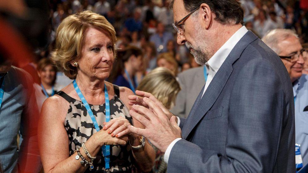 Foto: El expresidente del Gobierno Mariano Rajoy y la expresidenta de la Comunidad de Madrid Esperanza Aguirre. (Reuters)