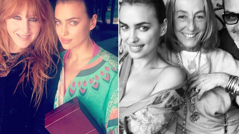 A la izquierda, Irina con Charlotte Tilbury. (Instagram)